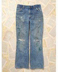 Free People Womens Paint Splattered Wrangler Jeans - Lyst
