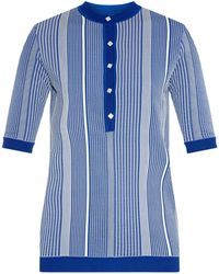 Trademark Striped Mid-weight Knit Sweater - Blue