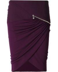 Versace Red Draped Skirt - Lyst