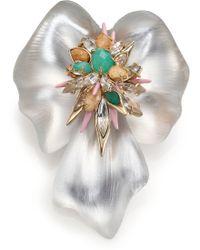 Alexis Bittar Desert Jasmine Lucite, Jasper, Chalcedony & Crystal Floral Punk Pin - Multicolor