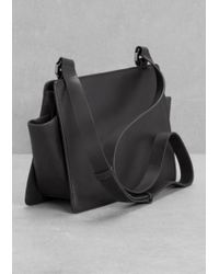 & Other Stories Leather Cross-Body Bag - Black