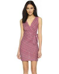 Diane von Furstenberg Dvf Bella Silk Jersey Sheath Dress - Pink