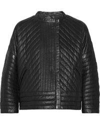 Isabel Marant Abelia Quilted Texturedleather Jacket - Lyst