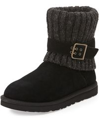 Ugg Cambridge Knitcuff Convertible Boot Black 380b80b - Lyst