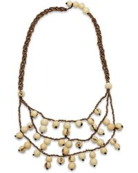Greenola Style Ivory Acai Tiered Necklace - Metallic
