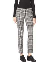 MICHAEL Michael Kors Verona Plaid Cropped Pants - Lyst