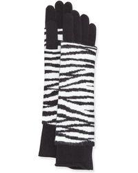 Portolano Cashmere-blend Animal Print Glove - Lyst