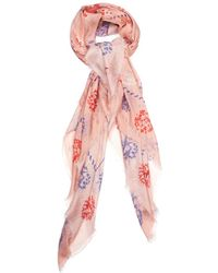 Alexander McQueen Swallow And Dot-Print Scarf - Lyst