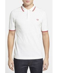 Fred Perry Polka Dot Cotton Pique Polo - Lyst