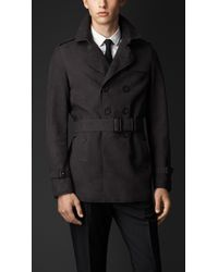 Burberry Suede Trench Coat - Lyst
