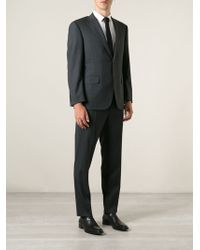 Canali Gray Travel Suit - Lyst
