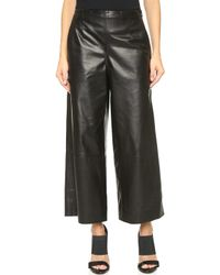 Maiyet - Wide Leg Cropped Trousers - Black - Lyst