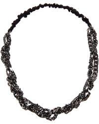 Maison Michel - Polished Gunmetal Chain Headband - Lyst