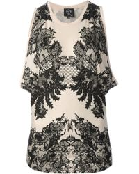 McQ by Alexander McQueen Floral Lace Print Top - Lyst