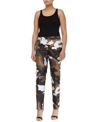 Michael Kors Samantha Skinny Camouflage Jacquard Pants - Lyst