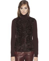 Gucci Persian Lamb Fur & Cashmere Turtleneck Sweater - Lyst