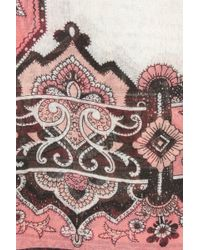 Oasis Woodblock Artisan Scarf - Multicolour