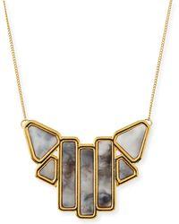 Jules Smith Art Deco Pendant Necklace - Lyst