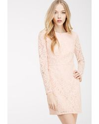 Forever 21 Floral Lace Sheath Dress - Lyst