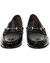 Gucci Leather Horsebit Loafers - Lyst