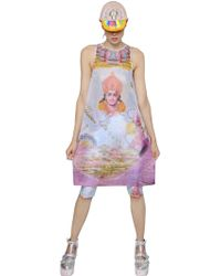 Manish Arora Space God Printed Mesh Dress multicolor - Lyst