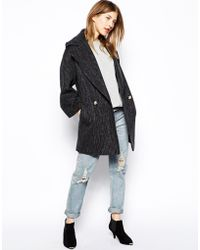 Helene Berman Reefer Coat - Lyst