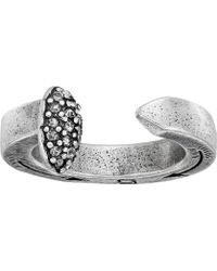 Giles & Brother Railroad Spike Ring W/ Pave - Metallic