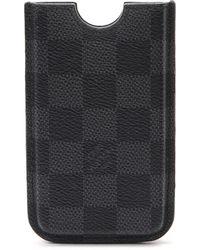 Louis Vuitton Black Damier Phone Case black - Lyst