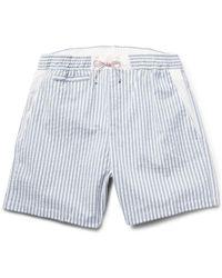 Loro Piana - Slim-Fit Seersucker Swim Shorts - Lyst