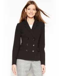 Calvin Klein Double Breasted Suit Jacket - Lyst