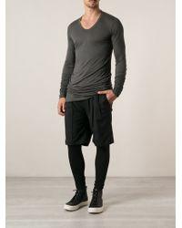 Rick Owens Long Length T-shirt - Lyst