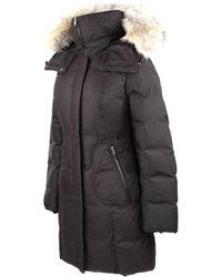 SOIA & KYO Alois-Spc Black Down Winter Coat With Fur Hood