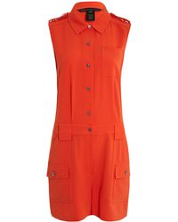 Marc By Marc Jacobs - Orange Crepe Sleeveless Playsuit - Lyst