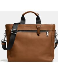Coach Utility Tote In Sport Calf Leather brown - Lyst