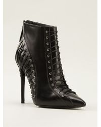 Gianmarco Lorenzi Lace-up Booties - Lyst