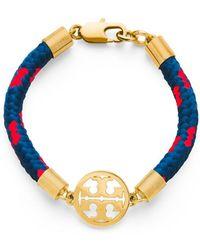 Tory Burch Logo Disc Rope Bracelet - Lyst