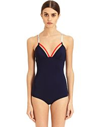 Paco Rabanne Womens Classic Swimsuit - Blue
