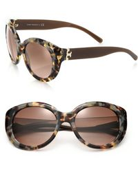 Tory Burch Oversized 54Mm Round Sunglasses brown - Lyst