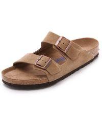 Birkenstock Soft Arizona Sandals - Lyst