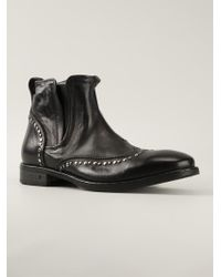 John Varvatos Studded Ankle Boots - Lyst