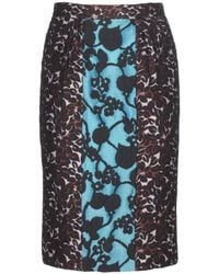 Miu Miu Jacquard Pencil Skirt - Lyst