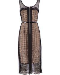 Sharon Wauchob Sheer Layered Dress - Natural