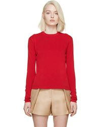 Acne Studios Red Fold_Over Materia Top - Lyst