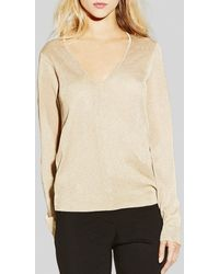 Vince Camuto Metallic Knit Sweater - Lyst