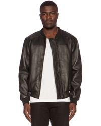 Lot78 Leather Bomber - Lyst