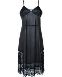 Comme des Garçons Lace Hem Slip Dress - Black