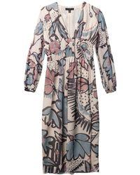 Burberry Prorsum Floralprint Silkgeorgette Dress - Lyst