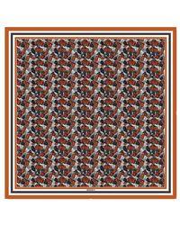 Rodarte Orange Butterfly Silk Scarf - Lyst