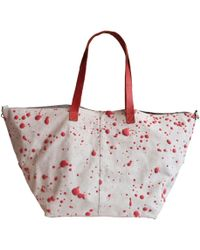 Saisei Big Tote Bag In Suede - Lyst