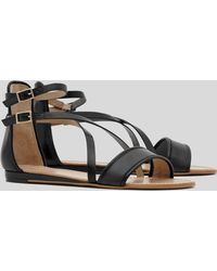 Reiss - Flat Ankle Strap Sandals Serena - Lyst